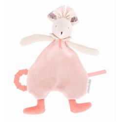 Schmusetuch Maus rosa von...