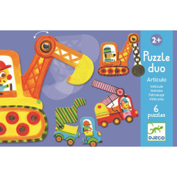 Duo Puzzle Fahrzeuge von Djeco