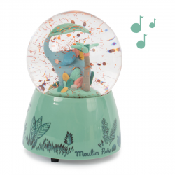 Musik-Schneekugel Elefant...