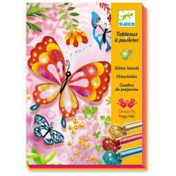 Glitzerbild Schmetterlinge...