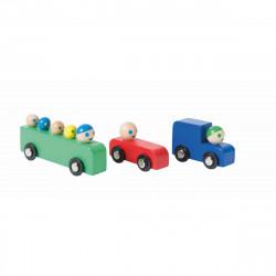 Auto und Bus aus Holz Set 3...