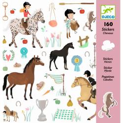 Stickerbögen Pferde von Djeco