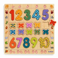 Lernholzpuzzle - Zahlen 1 -...