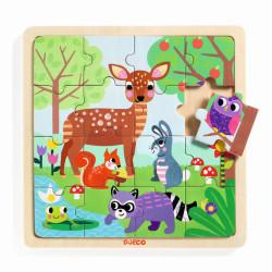 Holz Puzzle Wald von Djeco