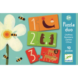 Duo Puzzle Zahlen Numbers...